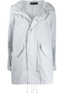 Mr & Mrs Italy Drawstring Detail Hooded Parka Coat - Cinza