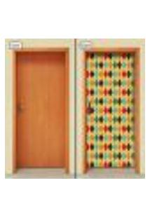 Adesivo Decorativo De Porta - Losangos - 1829Cnpt