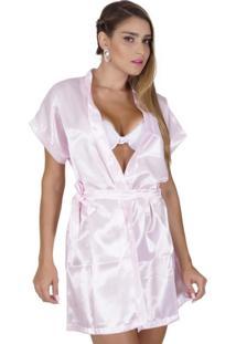 Robe Click Chique Amarração Rosa