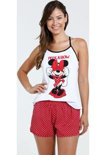 Pijama Feminino Short Doll Minnie Disney