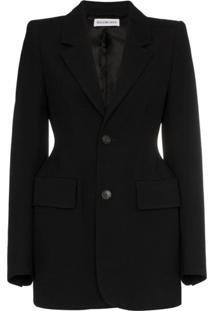 Balenciaga Blazer Com Abotoamento - Preto