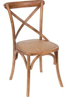 Cadeira Em Madeira Cross 1150-Or Design - Madeira Escura