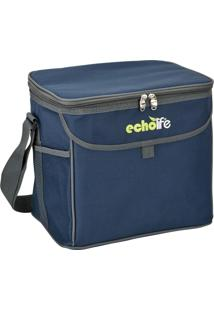 Bolsa Térmica 9 Litros Blue Echolife Com Alça De Ombro Ajustável E Bolsos Externos