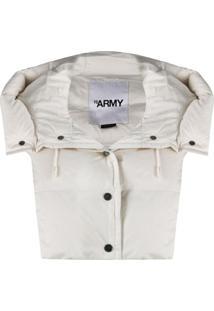Yves Salomon Army Colete Matelassê Com Capuz - Branco