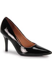 Sapato Scarpin Feminino Vizzano Verniz New Preto