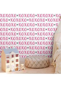 Papel De Parede Xoxo Pink