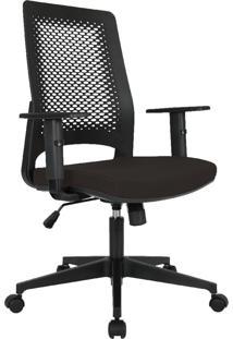 Cadeira Office Gerente Byartdesign Confort Preto Com Assento Preto - Preto - Dafiti