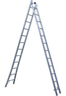 Escada Extensível 2X12 24 Degraus - Unissex-Cromado