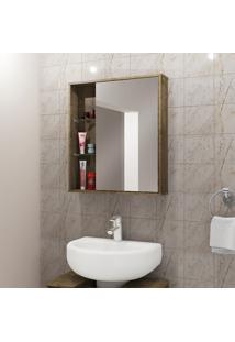 Espelheira Para Banheiro Móveis Bechara Miami 1 Porta Madeira