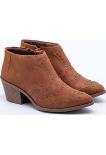Ankle Boot Dakota Studs Mascavo 34