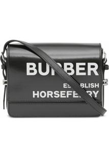 Burberry Bolsa Transversal Grace Pequena Com Estampa Horseferry - Preto