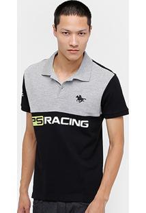 Camisa Polo Rg 518 Piquet Bicolor Racing Masculina - Masculino