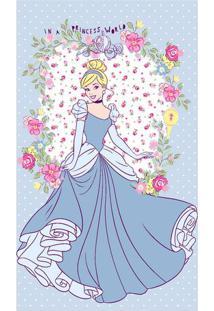 Toalha De Banho Disney Princessâ® World- Azul Claro & Rossantista