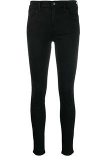 J Brand Calça Jeans Skinny Maria Cintura Alta - Preto
