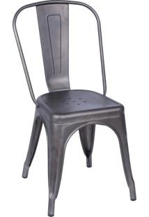 Cadeira De Jantar Retrã´- Bronze- 86X36X35,5Cm- Oor Design