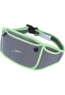 Pochete Speedo Slim Fit - Adulto - Cinza/Verde Cla