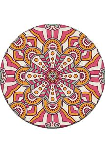 Tapete Love Decor Redondo Wevans Mandala Rosa 84Cm