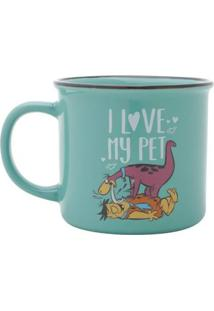 Caneca Porcelana Flinstones Dino Love My Pet 380 Ml - Caneca Porcelana Flinstones Dino Love My Pet 380 Ml