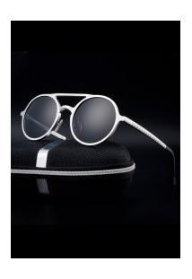 Óculos De Sol Estilo Gatsby Xy053 - Prata E Cinza