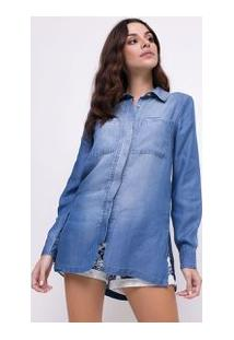 Camisa Jeans Alongada