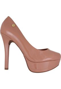 Sapato Feminino Vizzano Meia Pata Verniz Nude - 33