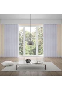 Cortina Duplex 3,00X1,70M Monaco Quarto E Sala Branco Branco