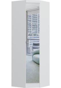 Modulo De Canto Com 1 Porta C/ Espelho Obliquo Infinity 3805A-Castro Móveis - Branco