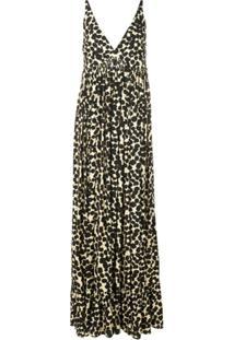 Proenza Schouler Vestido Longo Com Poás - Preto