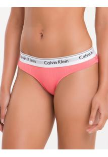Calcinha Tanga Renda Modern Cotton - Blush - L