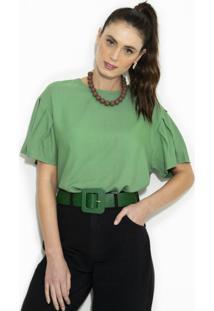 Blusa Em Crepe Verde