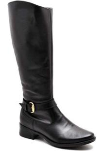 Bota Top Franca Shoes Country Feminino. - Feminino-Preto