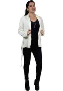 Casaco Trench Coat Feminino Clássico - Feminino-Bege