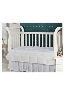 Cobre Leito Baby Pluma De Ganso 233 Fios Branco Plumasul