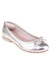 Sapatilha Shop Shop Shoes Biqueira Laço Cor:Champagnetamanho:34 Cobre