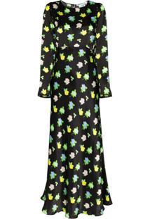 Bernadette Vestido Longo Jane Mangas Longas - Preto