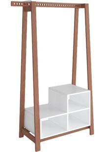 Guarda-Roupa Closet Modulado Ábaco Amêndoa E Branco