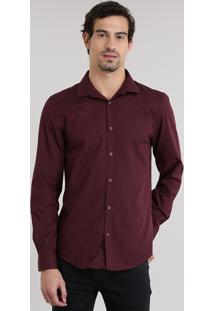 Camisa Slim Vinho