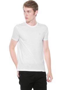 Camiseta Calvin Klein Slim Flamê Branca