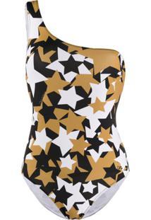 Dolce & Gabbana Star Print Swimsuit - Dourado