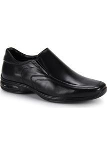 Sapato Conforto Masculino Jota Pe 3D Vision - Preto