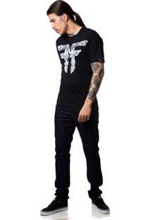 Camiseta Fallen Bones - Masculino-Preto