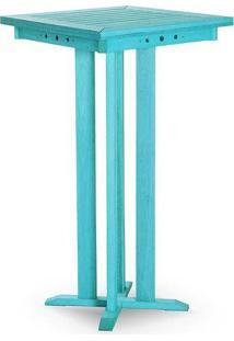 Mesa Bar Azul Mão E Formão