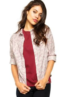 Camisa Forum Fashion Branca/Rosa