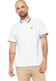 Camisa Polo Timberland Reta Tbl Branca