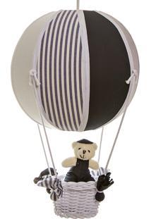 Lustre Balão Bolinha Urso Bebê Infantil Menino Potinho De Mel Marinho