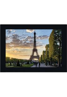Quadro Decorativo Paris Torre Eiffel- Azul Claro & Verdekapos