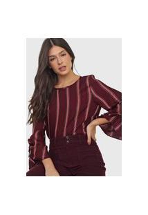 Blusa Malwee Listrada Vinho/Rosa