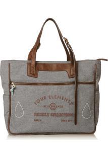 Bolsa Blue Bags Tote Reciclada Bordado Água - Kanui