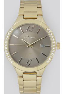 444bd5f6cb3 CEA. Relógio Analógico Condor Feminino - Co2115to4c Dourado - Único