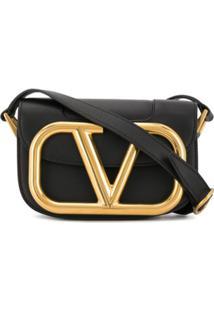 Valentino Bolsa Transversal Supervee Pequena - Preto